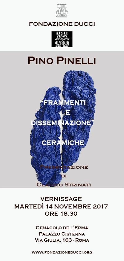 """Vernissage personale Pino Pinelli """"Frammenti e Disseminazione"""" Ceramiche"""