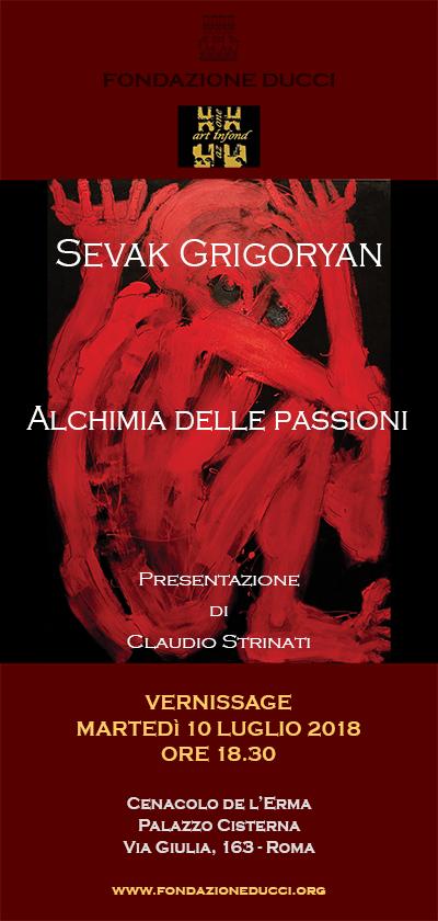 """Vernissage """"Alchimia delle passioni"""" di Sevak Grigoryan"""
